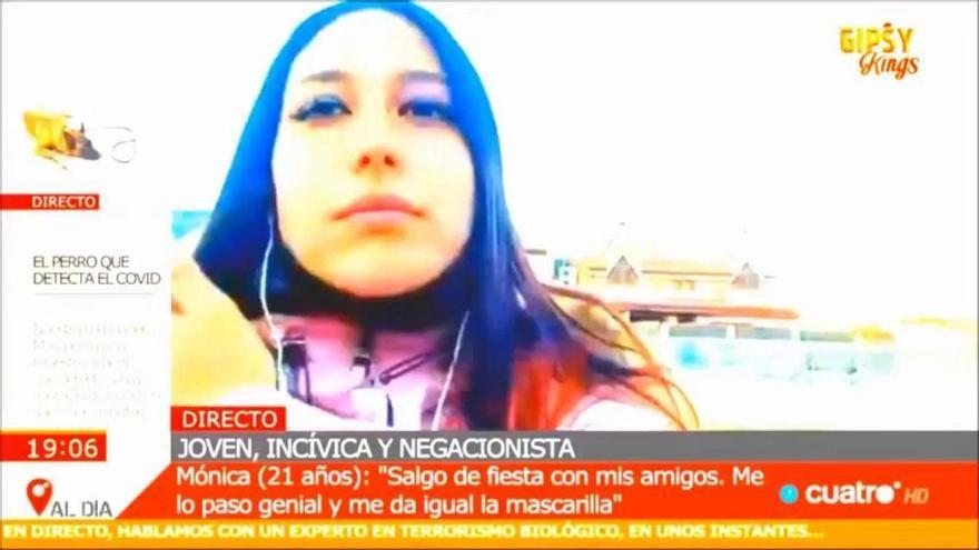 """El padre de la negacionista Mónica: """"El primer avergonzado de lo que dice soy yo"""""""