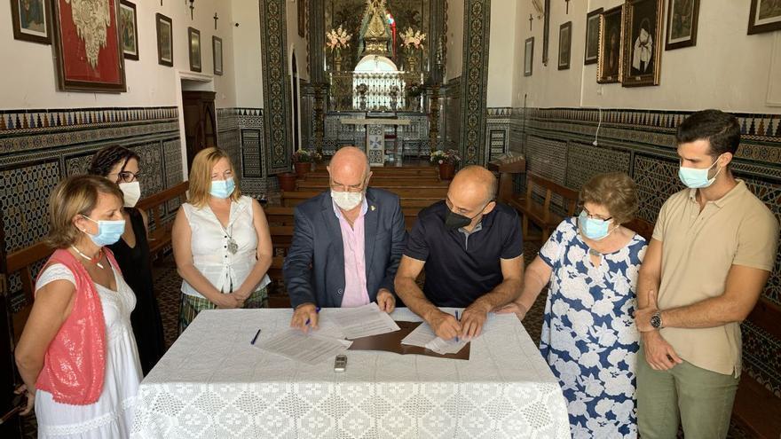 Cultura y la Hermandad firman un convenio para la celebración de las Fiestas en Palma del Río