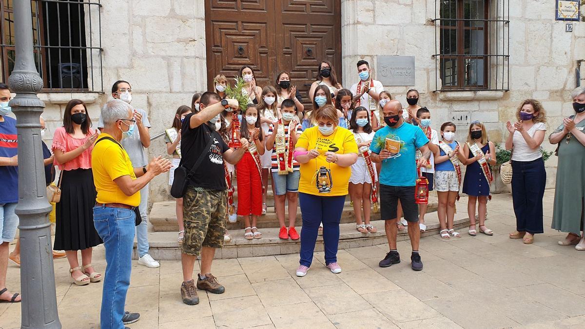 Imagen de la recepción de la Flama del Canigó, que tuvo lugar el pasado miércoles en Vinaròs.