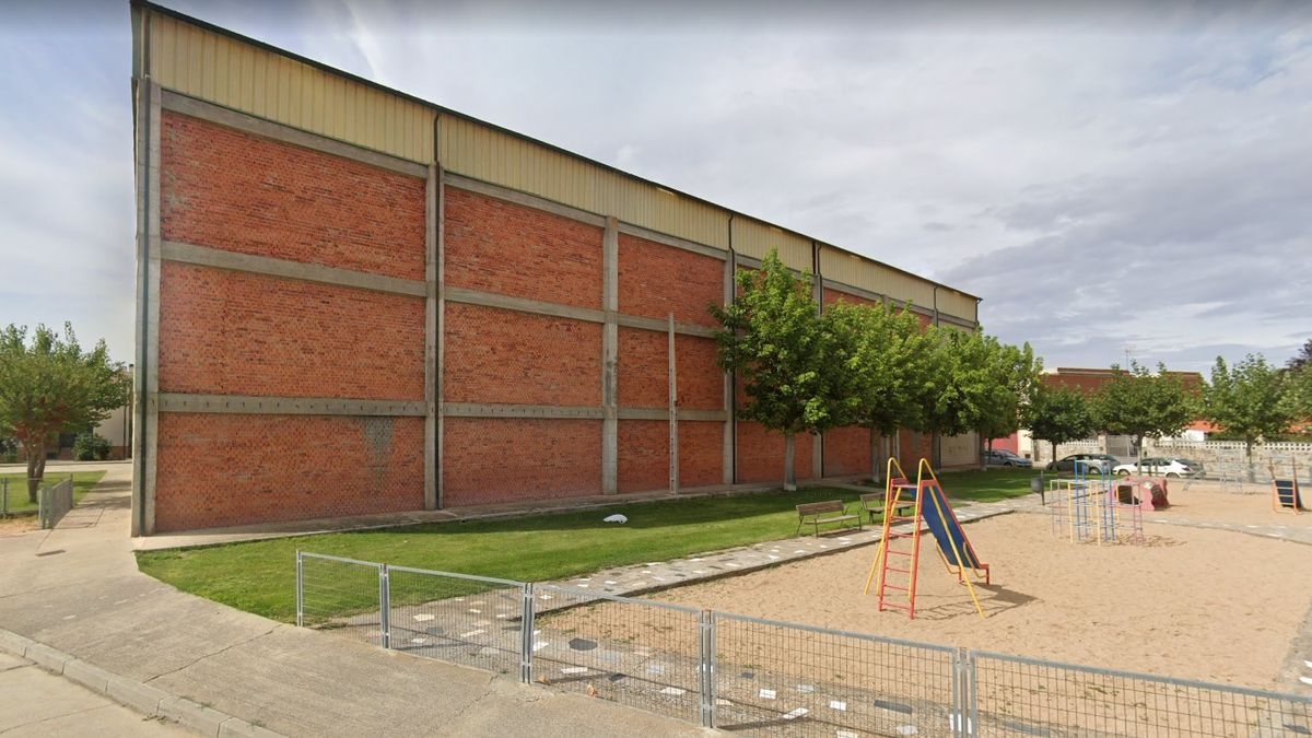 Pabellón polideportivo de Monfarracinos, donde se realizará el cribado con tests de antígenos.