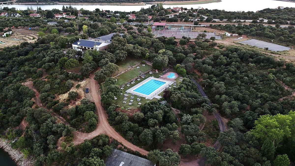 Instalaciones del Club Deportivo Esla a vista de dron.