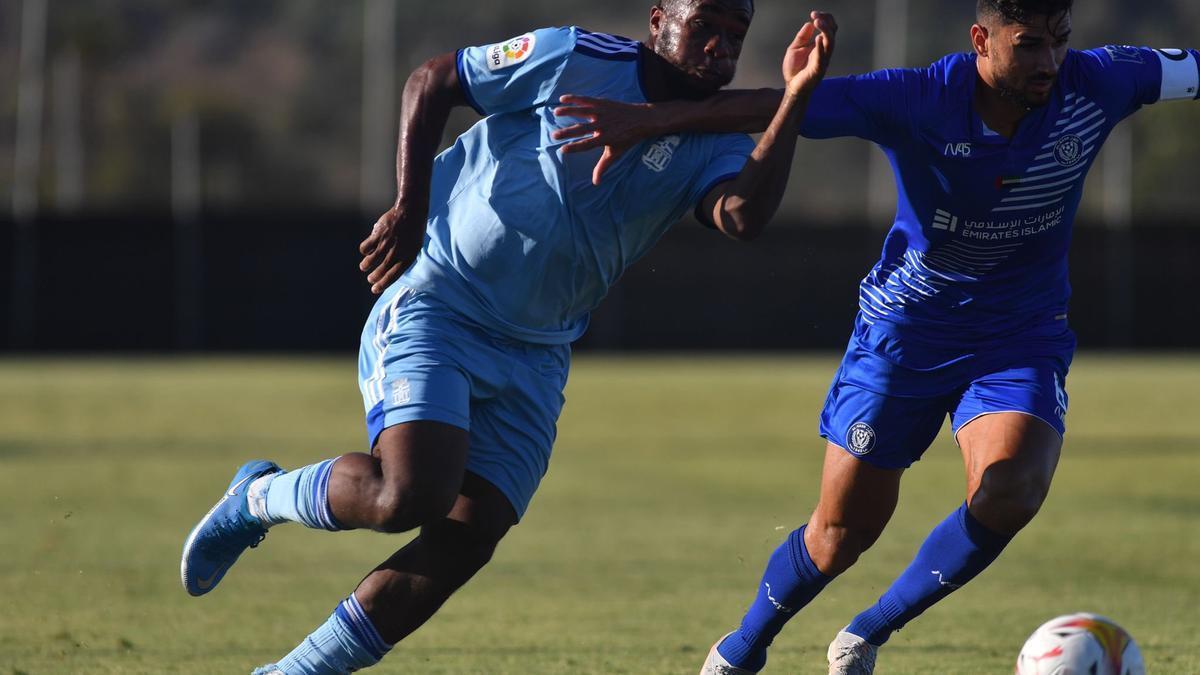 Una imagen del partido entre el FC Cartagena y el Al-Nasr