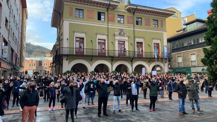 Protesta de hosteleros en las Cuencas