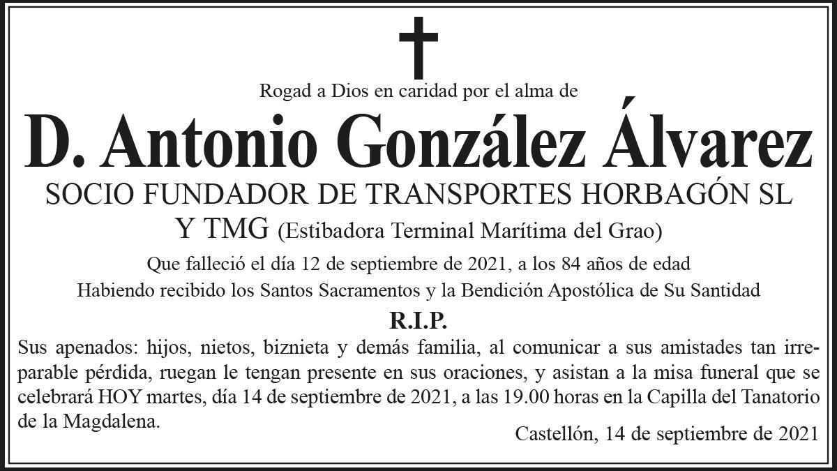 D. Antonio González Álvarez