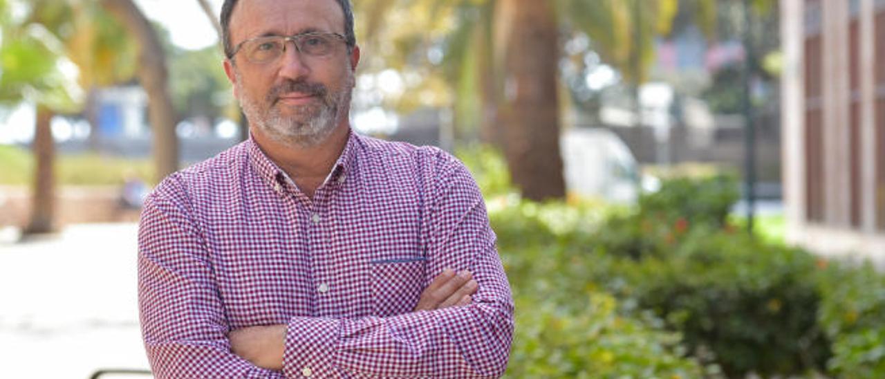 El nacionalista Francisco García, ahora primer teniente Alcalde de Santa Lucía, en Las Palmas de Gran Canaria.