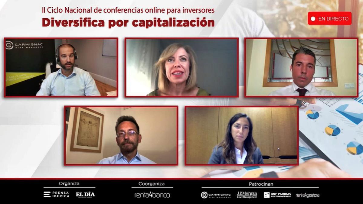 Los participantes durante el II Ciclo Nacional de Conferencias para inversores de Renta 4 Banco y Prensa Ibérica