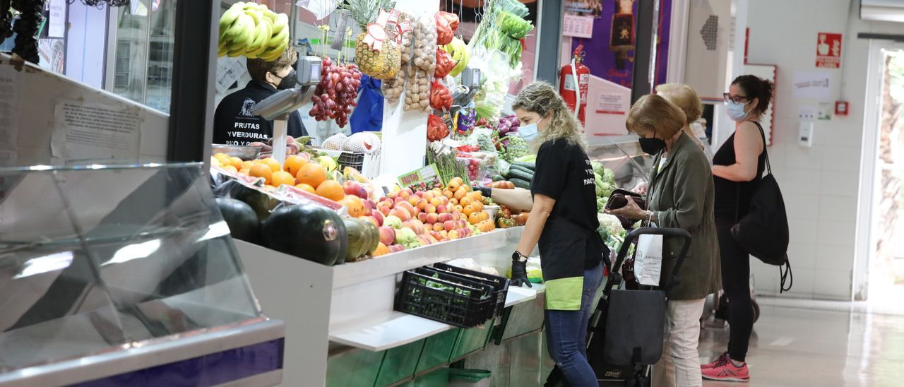 Mercado provisional de Elche.