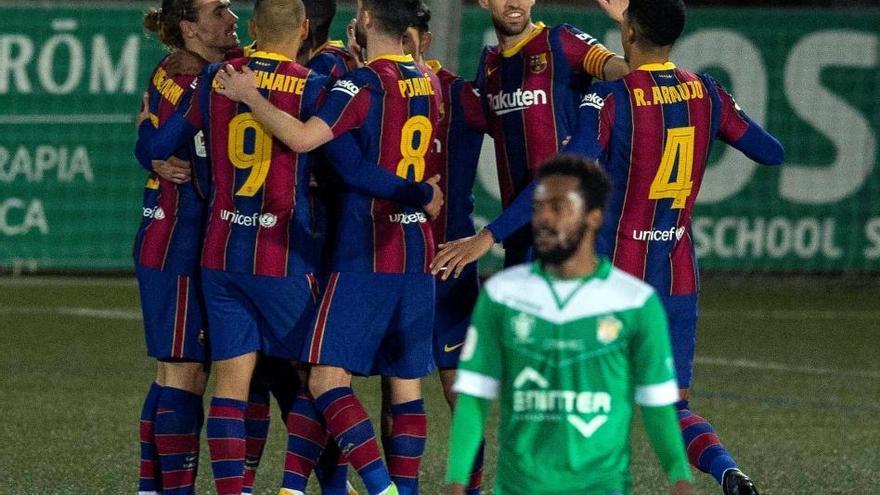 El Barcelona sufre hasta la prórroga para eliminar al Cornellà