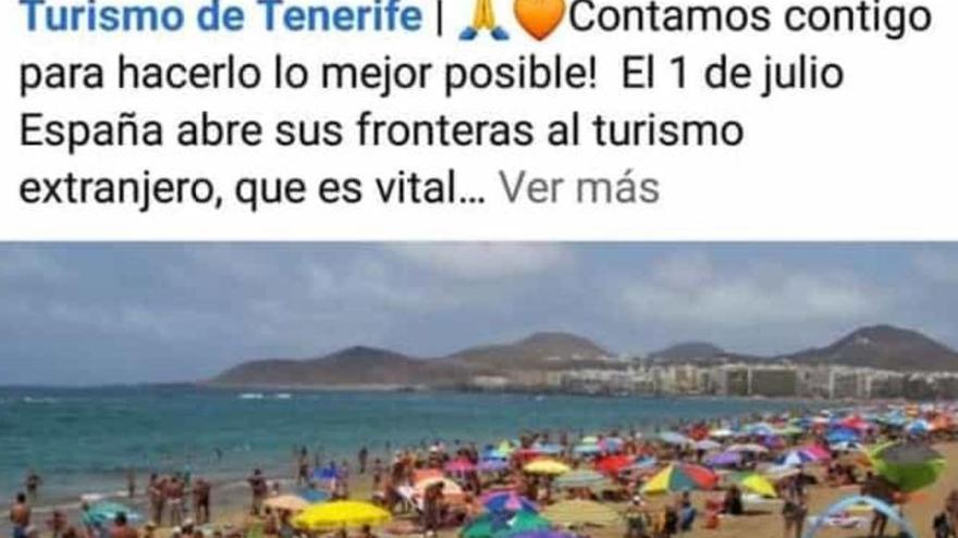 """Critican a Tenerife por un """"supuesto uso"""" de una imagen de Las Canteras"""