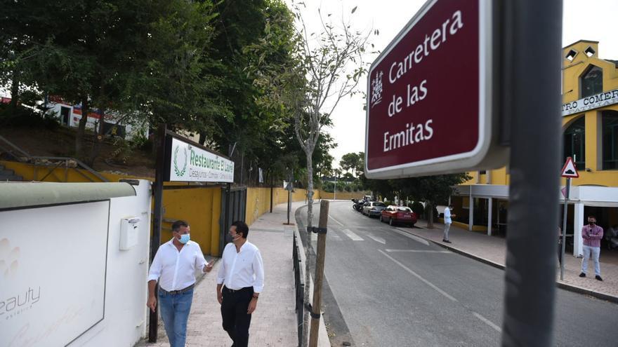 Concluyen las obras del acerado de la carretera de Las Ermitas de Córdoba