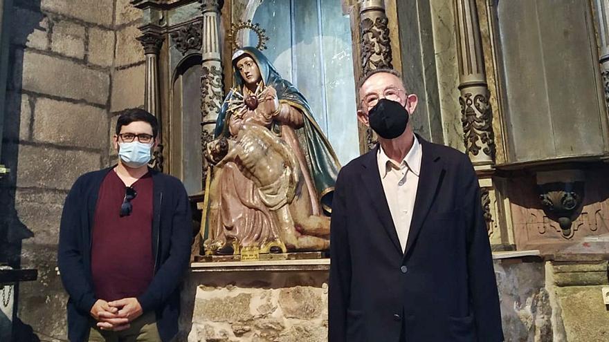Cambados restaura el retablo de la Virgen de las Angustias y el Ecce Homo