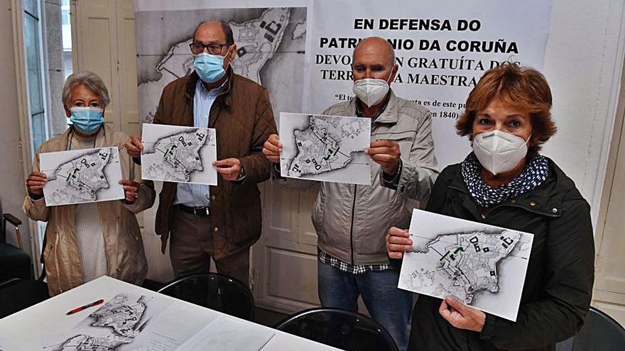 Defensa do Común se concentrará en María Pita por la devolución gratuita de las fincas de A Maestranza