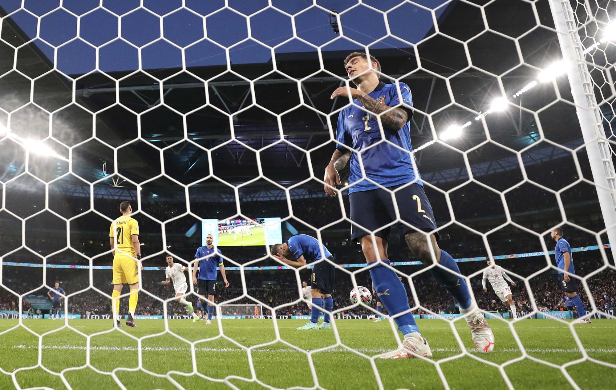 Así celebra Morata su gol contra Italia en la semifinal de la Eurocopa