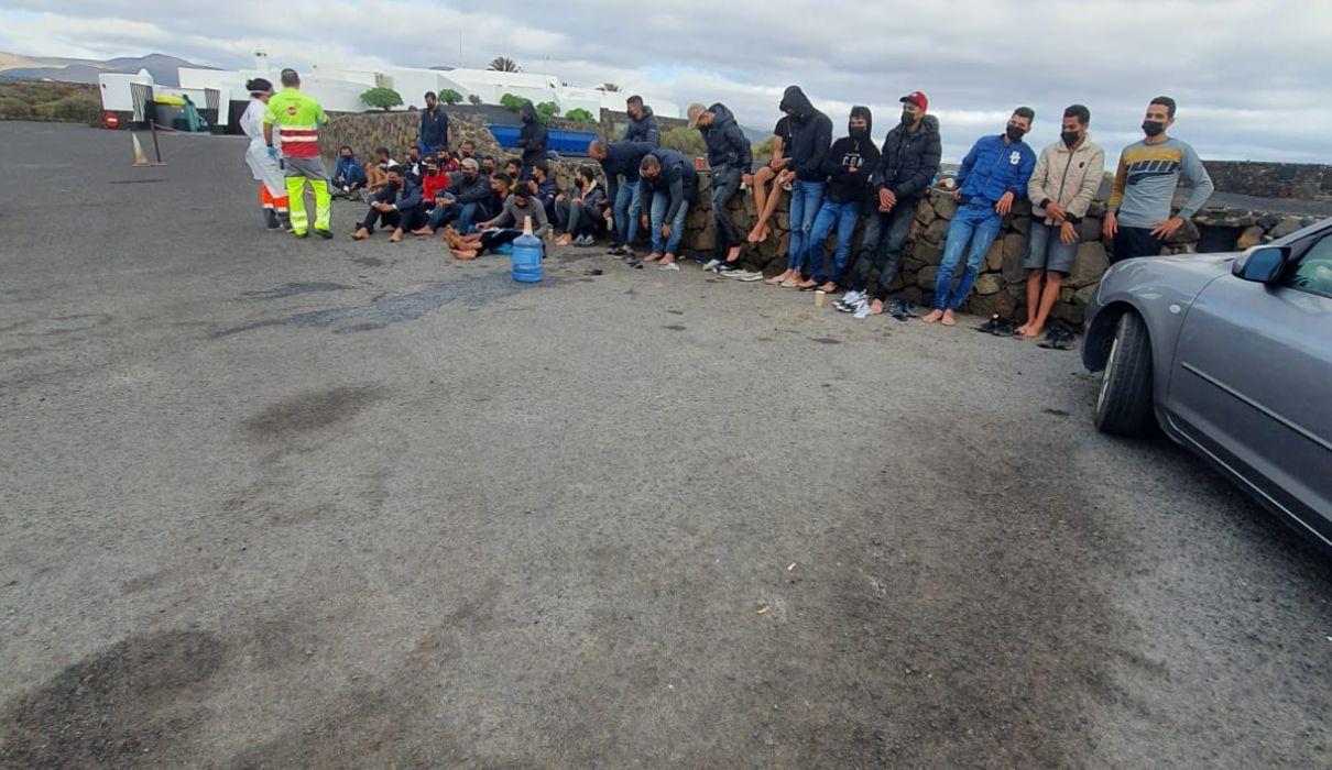 31 magrebíes llegan en patera a Haría, en Lanzarote