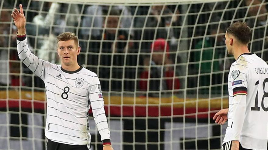 Kroos, tras marcar ante Bielorrusia.