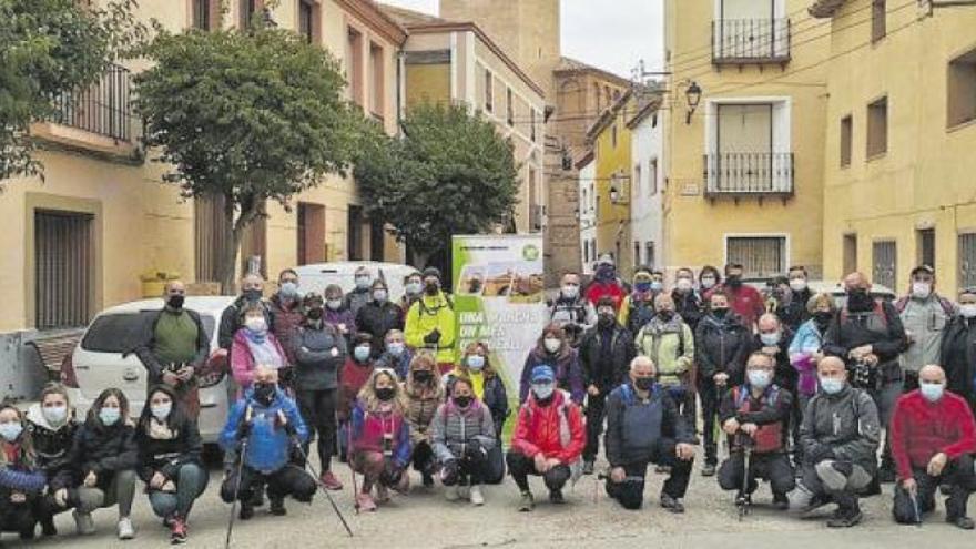 Longares acoge la segunda marcha senderista del proyecto comarcal
