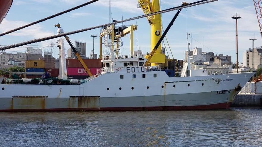 """El """"Pesca Vaqueiro""""  ya está en el puerto de Montevideo"""