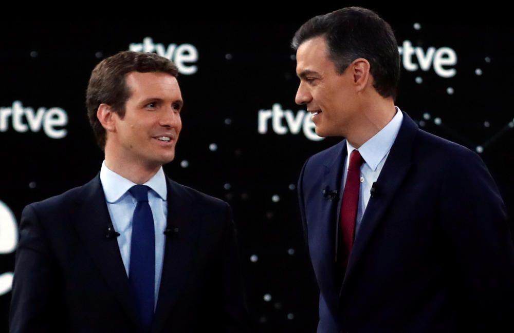 El debate electoral a cuatro de RTVE, en imágenes