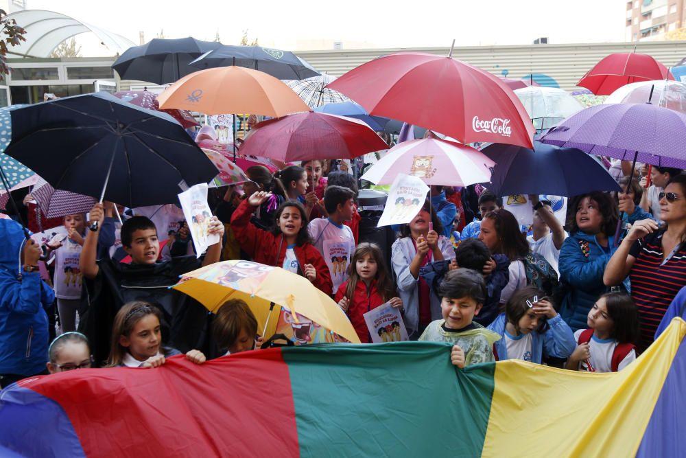 Protestas en el CEIP 103 de Valencia.