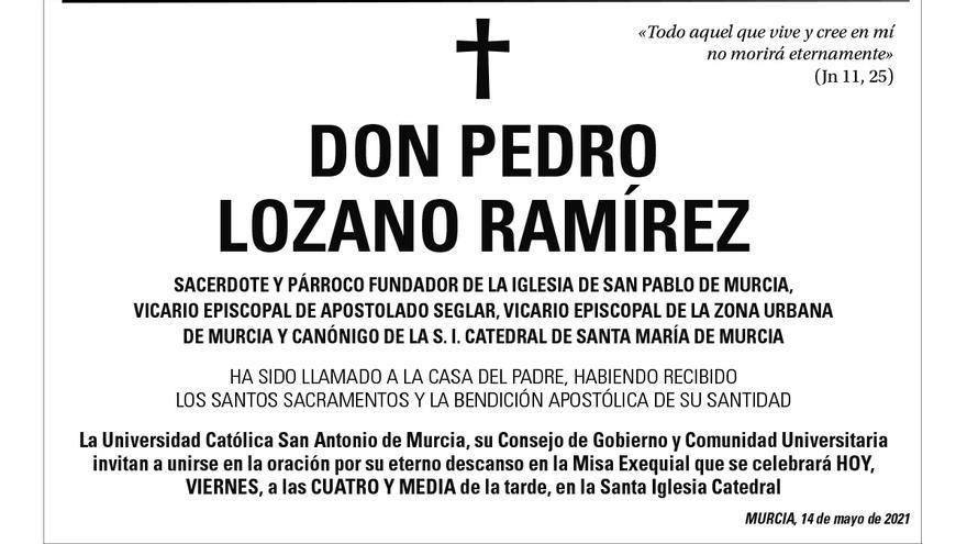 D. Pedro Lozano Ramírez.