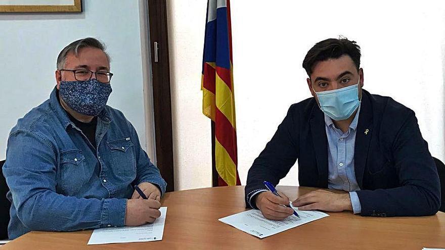 Acord entre Ajuntament i UBIC a Sallent per fomentar l'economia