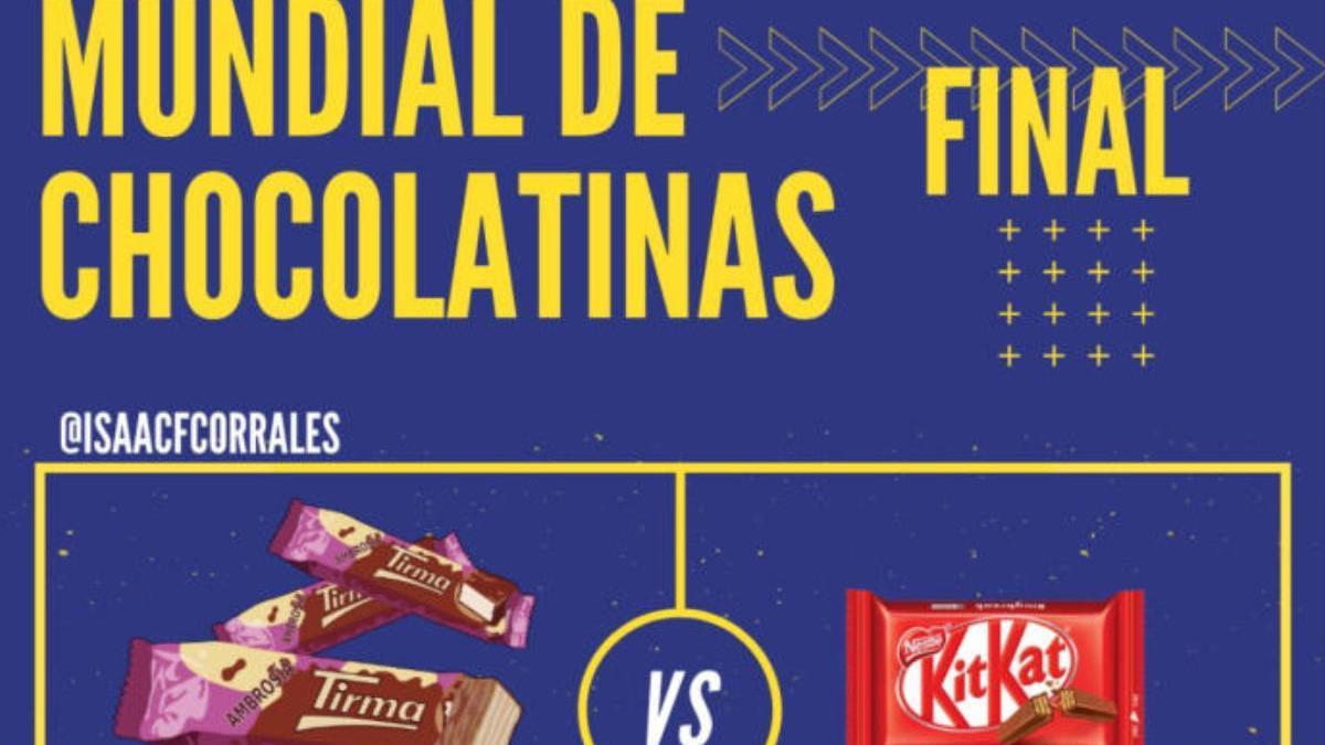 Cartel de la final del #MundialdeChocolatinas de Twitter.