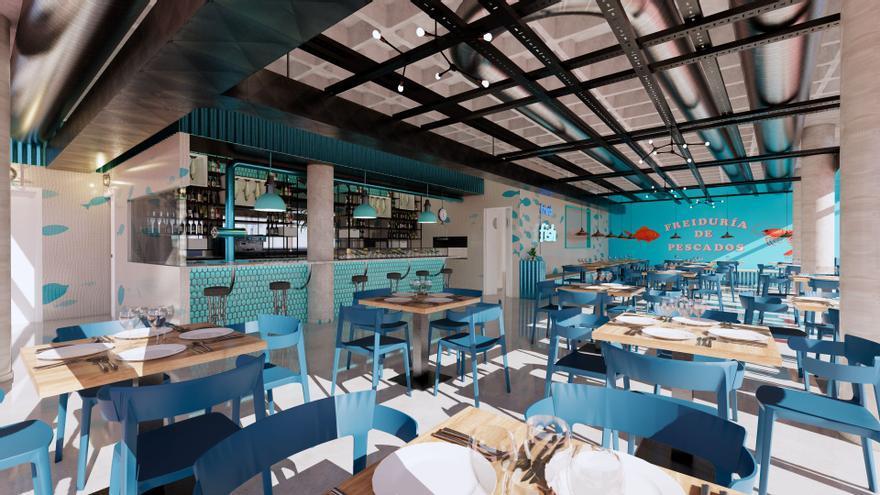 Nuevo Puerto Azahar ofertará la mejor cocina en Malaspina, Freiduría de Lonja