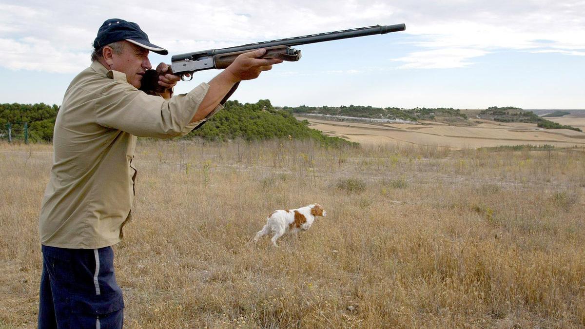 Un cazador, en la provincia de Zamora.
