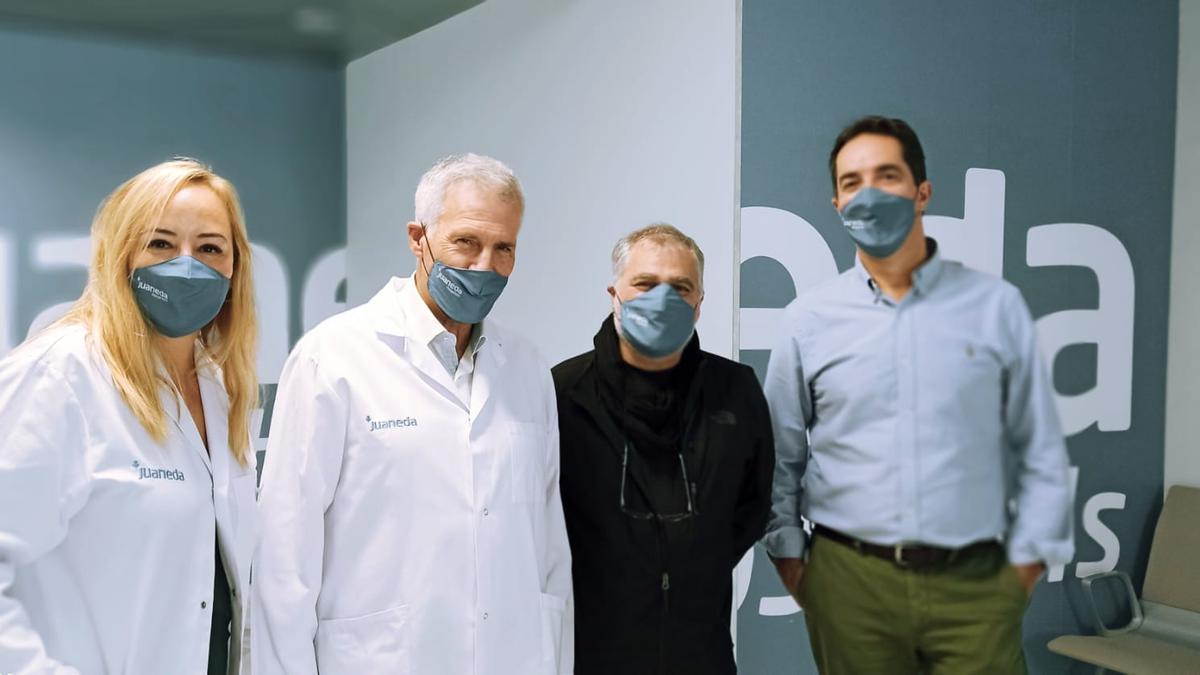 Isabel Bonnín, Dr. Juan Alguersuari, Benito Zambrano y Santiago Mascaró.