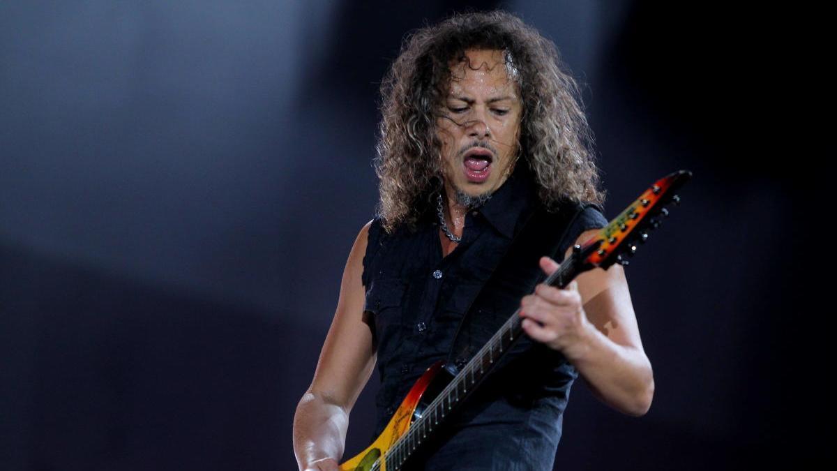 El guitarrista de la banda de rock Metálica, Kirk Hammett.