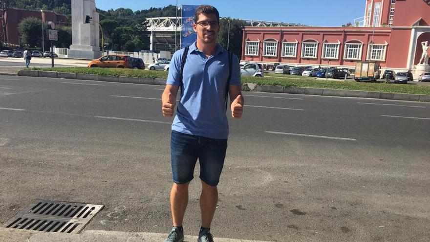 Héctor Cabrera, un estudiante más en Roma