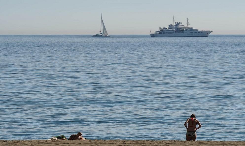 Andrómeda, yate de superlujo que ha atracado en el Puerto de Málaga este año.