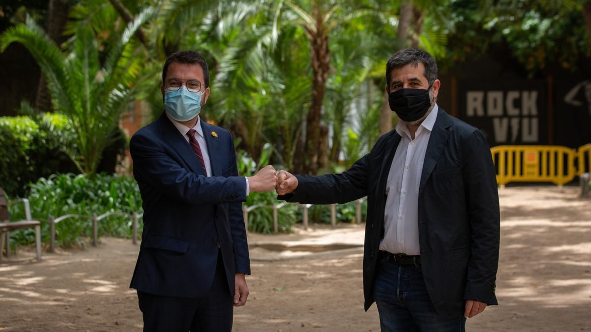 Pere Aragonès y Jordi Sànchez