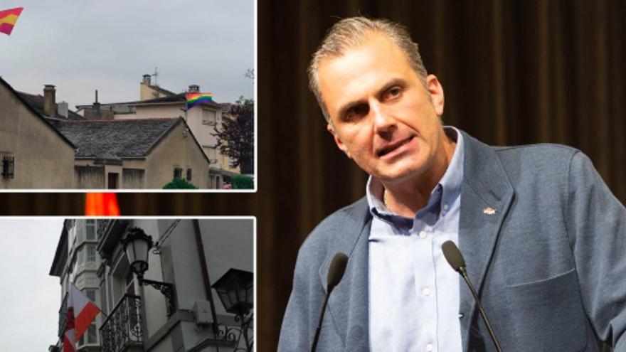 El líder de Vox, Ortega Smith, víctima de las trastadas de San Juan en Figueras