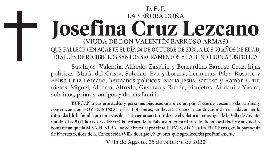 Josefina Cruz Lezcano