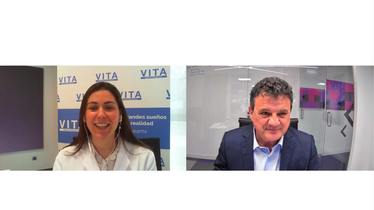 Imagen del encuentro digital con la especialista en reproducción asistida de VITA Medicina Reproductiva en IMED Elche.