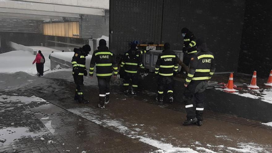 Telefónica acogió en su sede a más de 1.000 personas atrapadas por las nevadas