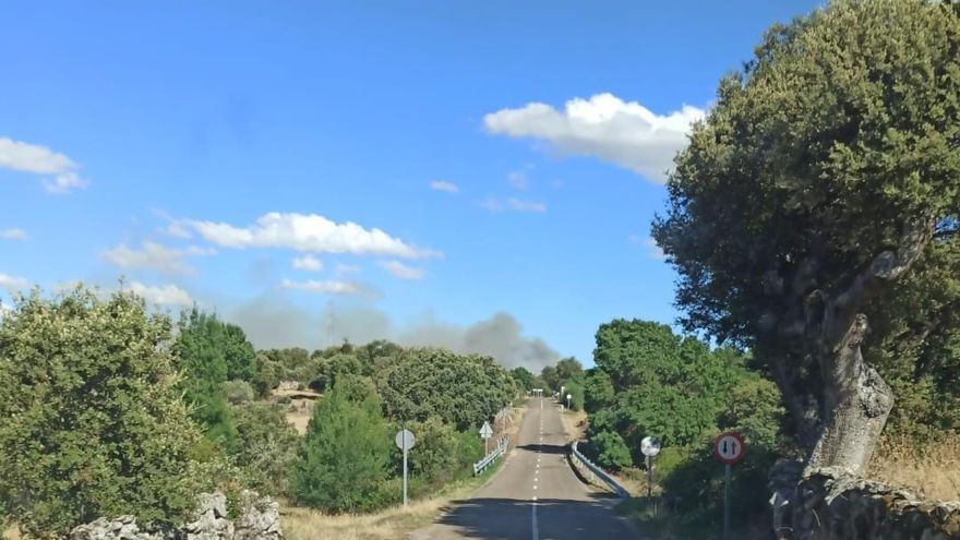 Incendios forestales en Moral de Sayago y Santa María de Vega