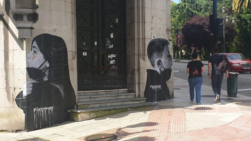 ¿Quién está detrás de las misteriosas obras de arte con las que amaneció este sábado Oviedo?