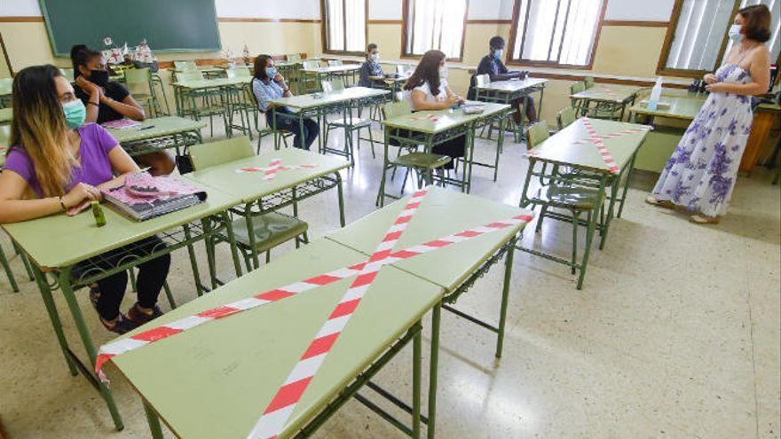 Los brotes en el ámbito educativo aumentan en Canarias en la última semana