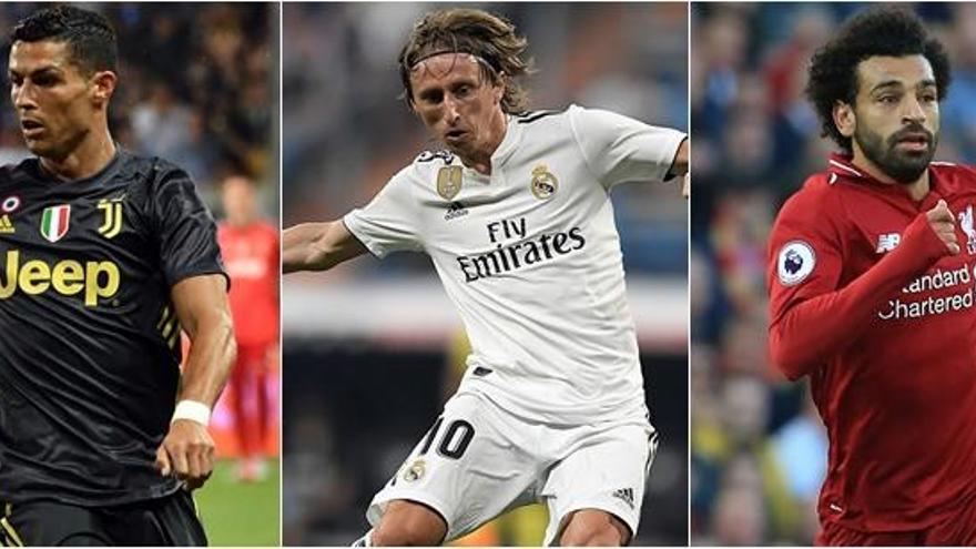 Cristiano, Modric y Salah, finalistas del premio The Best a mejor jugador