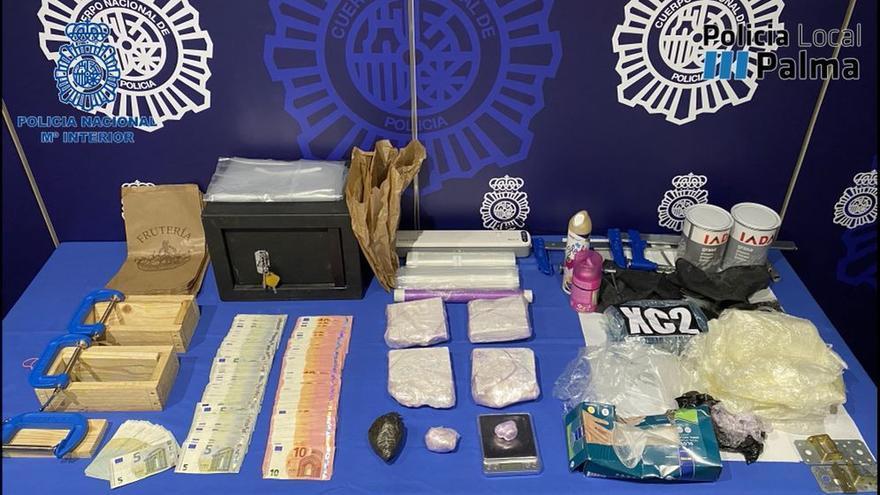 Dos detenidos y dos kilos de cocaína incautados en una operación antidroga en Palma