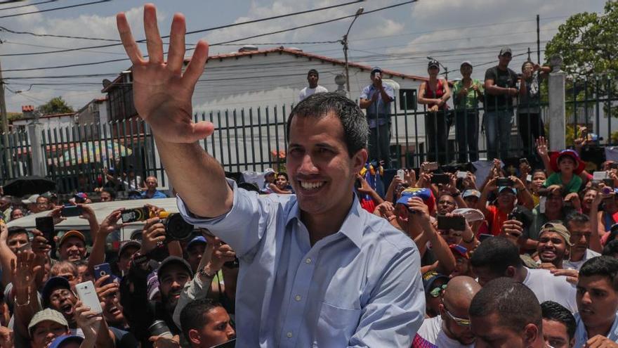 """Guaidó agradece apoyo de la UE y reitera su lucha por la """"libertad"""" en Venezuela"""