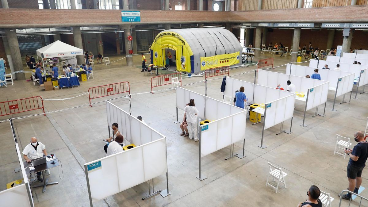 Vacunació massiva al pavelló firal de la ciutat de Girona