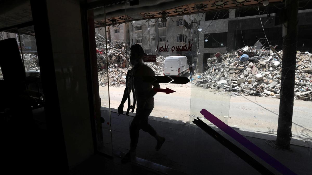 Destrozos en la franja de Gaza