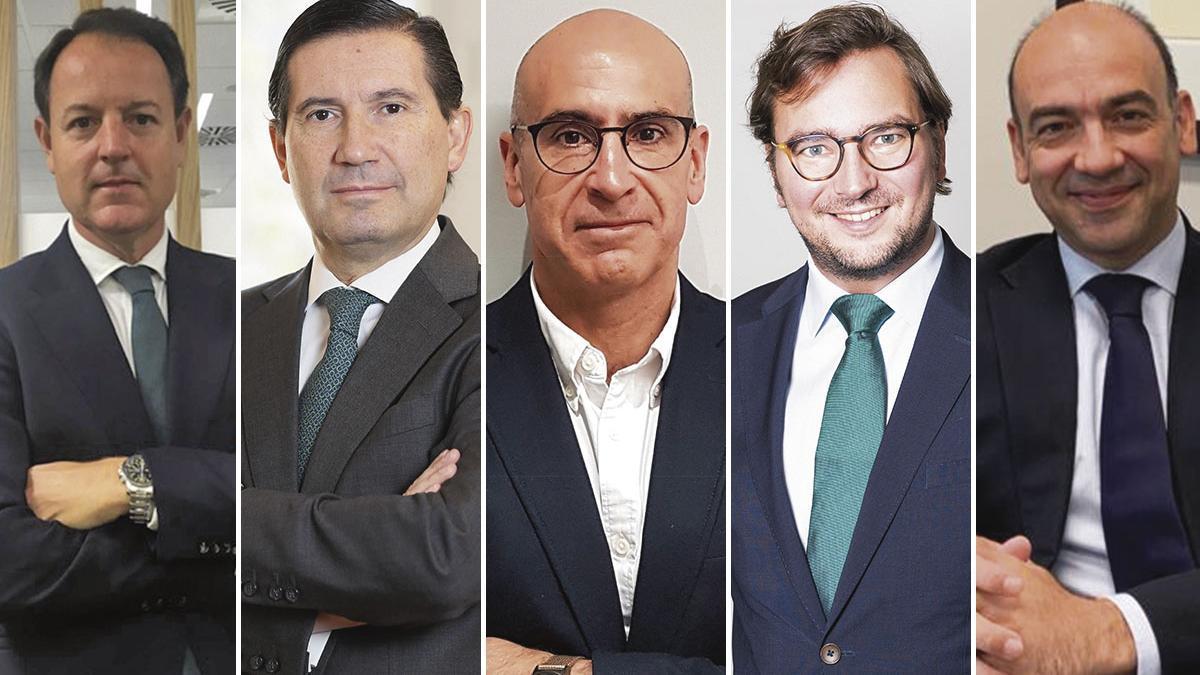 Francisco Ferrer, José Luis Santos, Juan Manuel Soto, François Solanet y Carlos Andrés