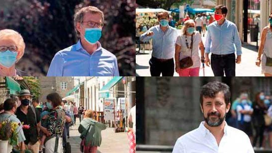 Los candidatos gallegos coinciden en el llamamiento a participar en el 12J