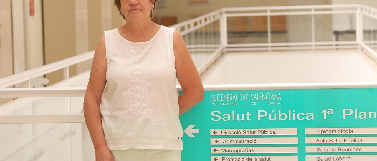 Antonia Soriano, directora de Salud Pública, en el Centro de Salud de Altabix.