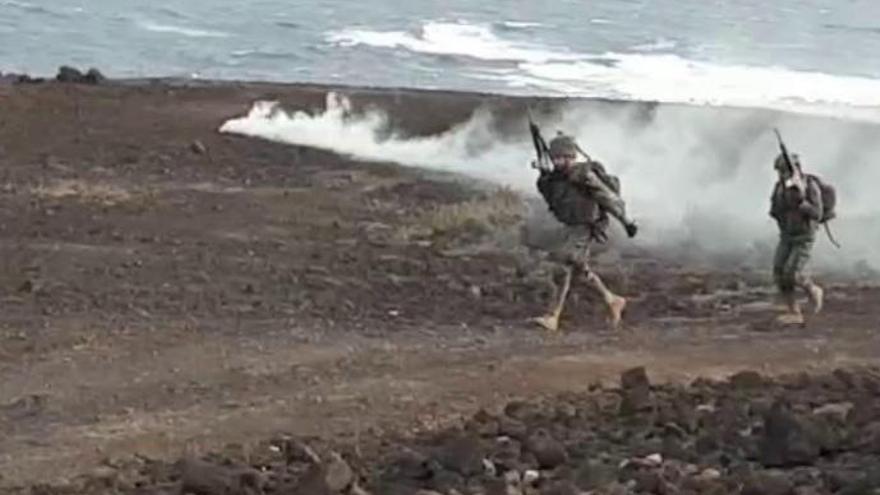 La Brigada Canarias XVI realiza el simulacro más importante de la última década en La Isleta