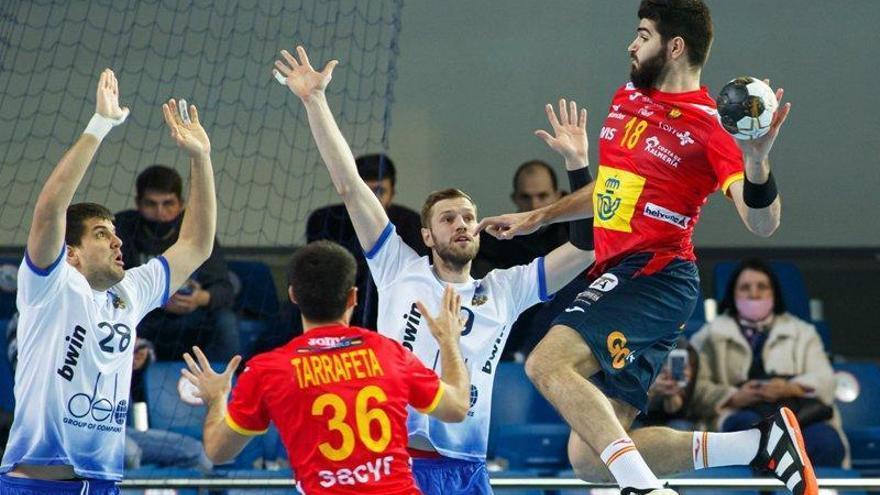 España B lucha hasta el final ante Rusia A